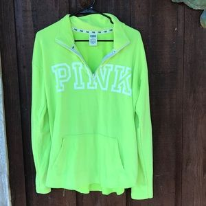 PINK Neon Yellow Pull-Over